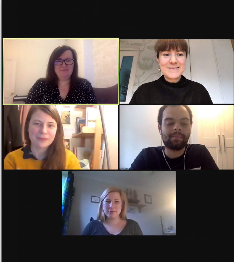 Screenshot of the ETS team in a Zoom meeting.